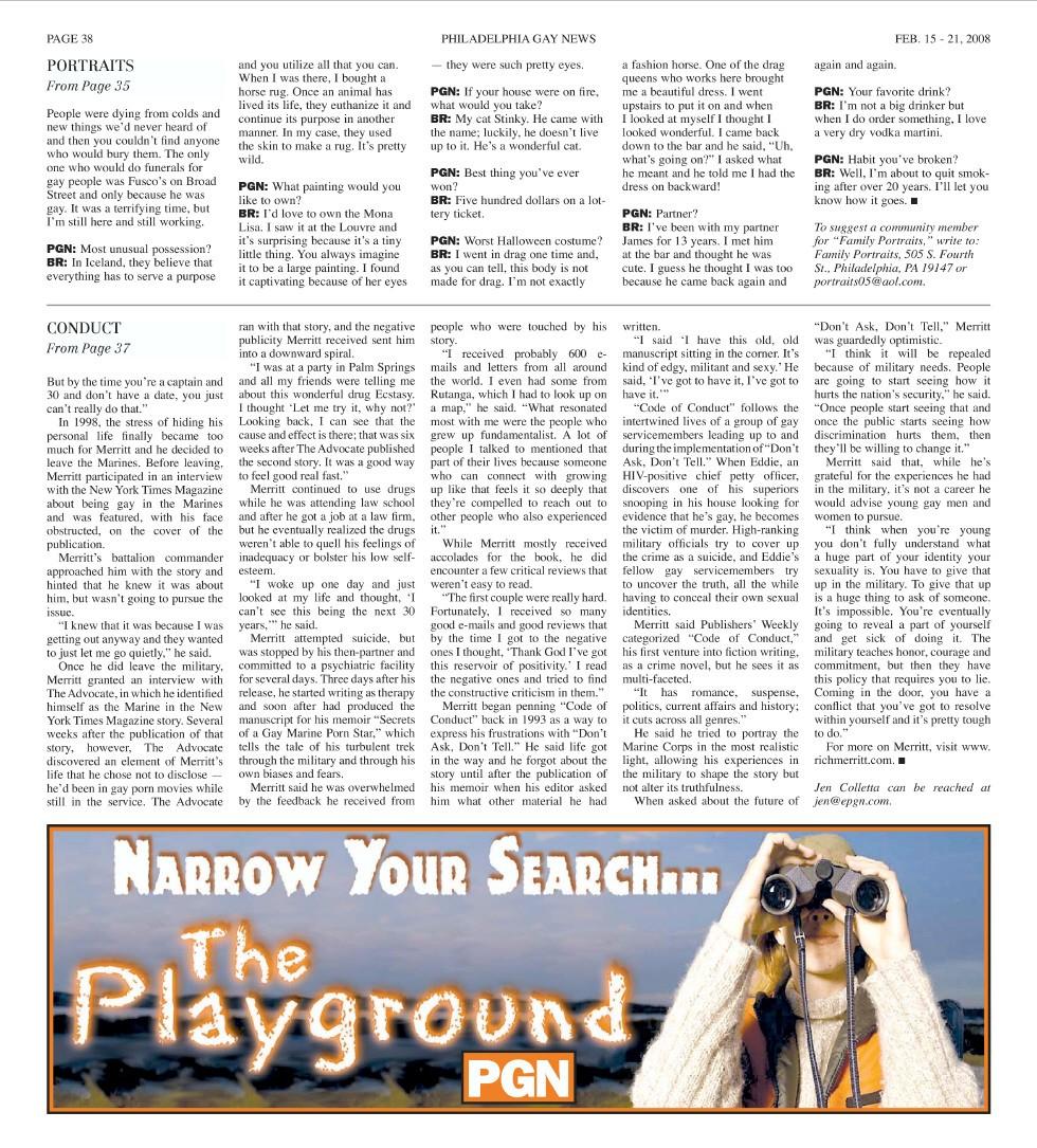 San Diego, CA: Gay & Lesbian Times Boston, MA: Edge Magazine (2/5)